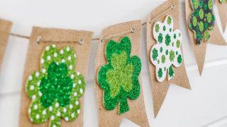 Easy DIY St. Patrick's Day Burlap Banner