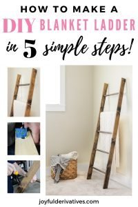How to make a blanket ladder in 5 simple steps.