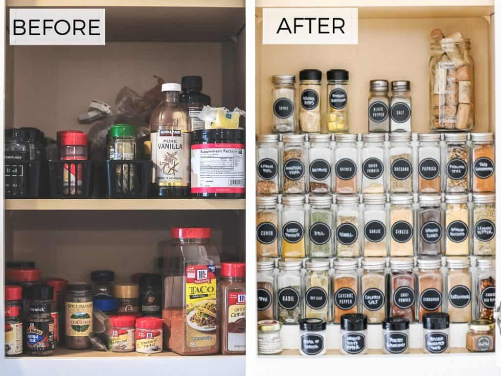 The Best Diy Hack For Organizing Spices In A Cabinet