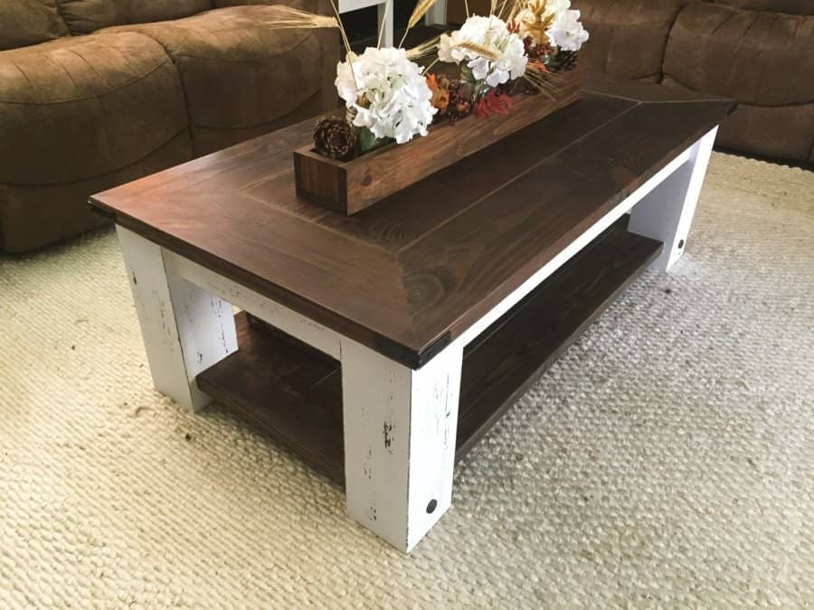 30 Easy Diy Farmhouse Coffee Table Projects With Free Plans Joyful Derivatives