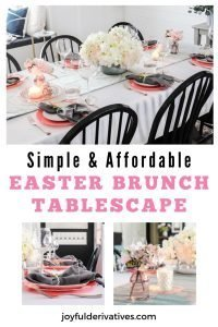 Simple and affordable Easter brunch tablescape with tips.