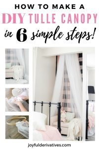 How to make a DIY tulle canopy in 6 simple steps!
