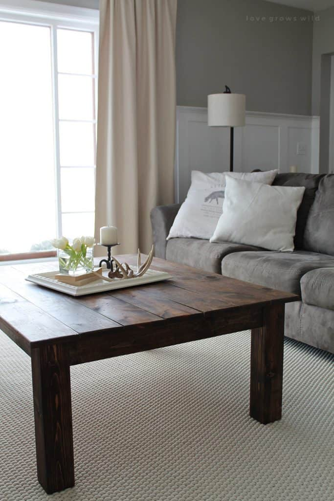 30 Easy Diy Farmhouse Coffee Table Projects With Free Plans Joyful