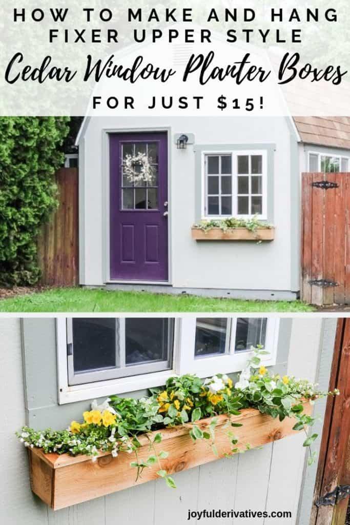 Easy 15 Fixer Upper Style Diy Cedar Window Boxes Joyful Derivatives