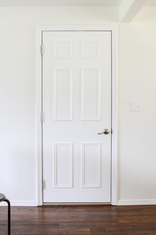Flat Interior Door Makeover (6-Panel)