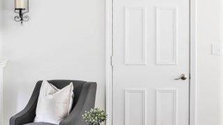 EASY Flat to 6-Panel Interior Door Makeover!