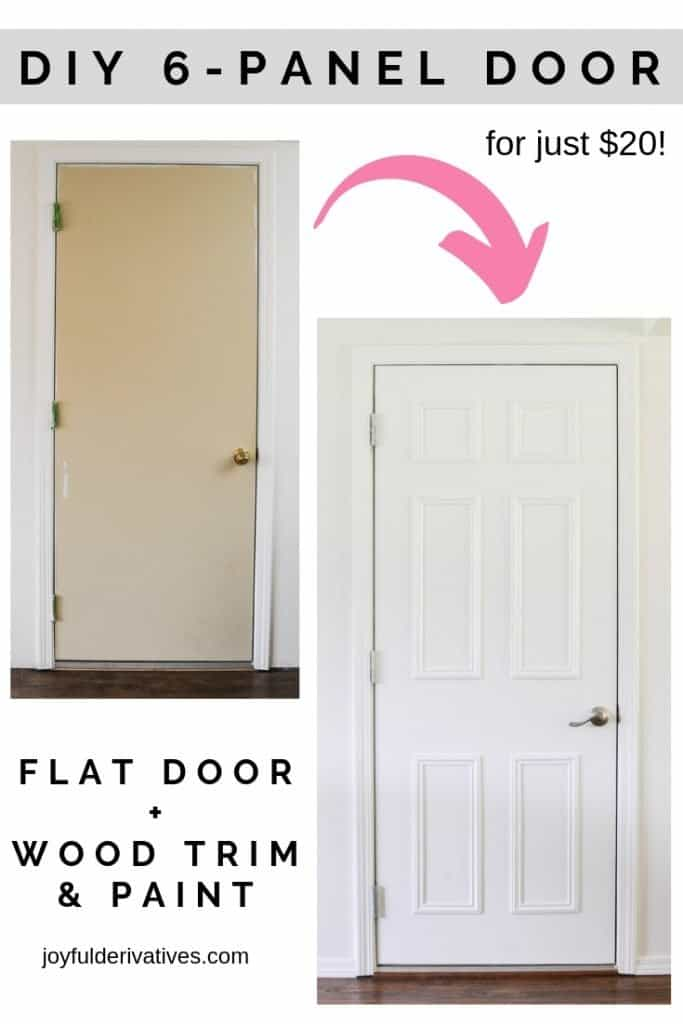 Easy Flat To 6 Panel Interior Door Makeover Joyful Derivatives