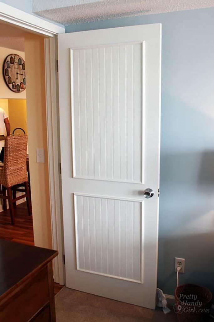EASY Flat to 6-Panel Interior Door Makeover! - Joyful Derivatives