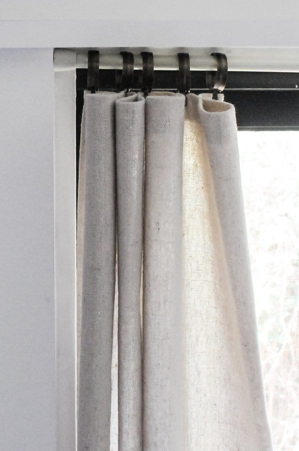 How To Make No Sew Diy Drop Cloth Curtains The Easy Way