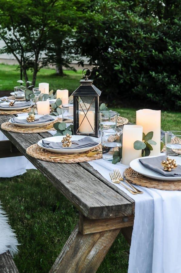 Lovely Outdoor Table Decor for a Dinner Al Fresco - Joyful ...
