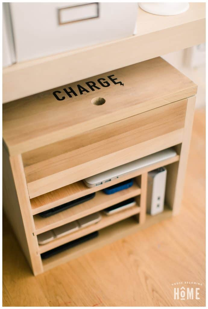 30 Easy DIY Charging Station Ideas for Hiding Cords ...