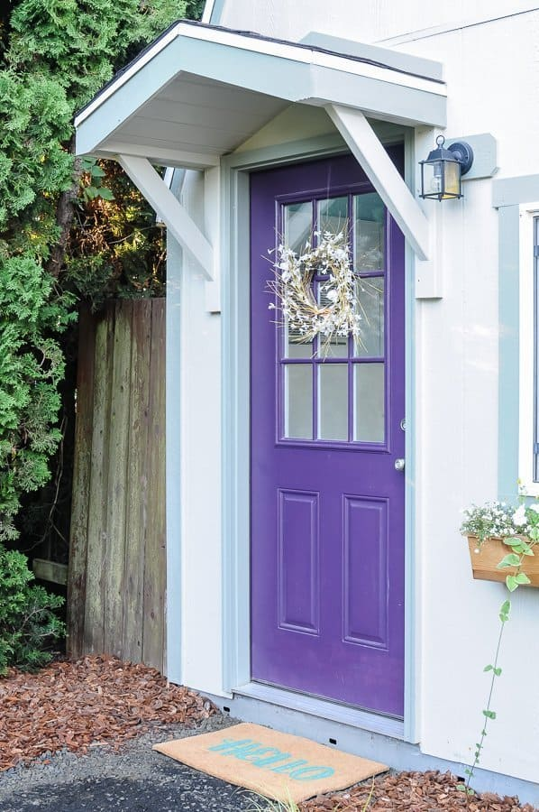 How to Build a Gable Roof over a Front Door