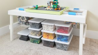 How to Build a LEGO Table with Removable Tray & Storage