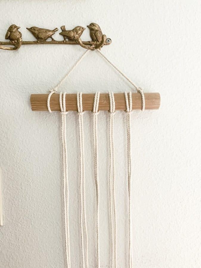 Easy Diy Macrame Plant Hanger Wall Hanging Tutorial Joyful Derivatives