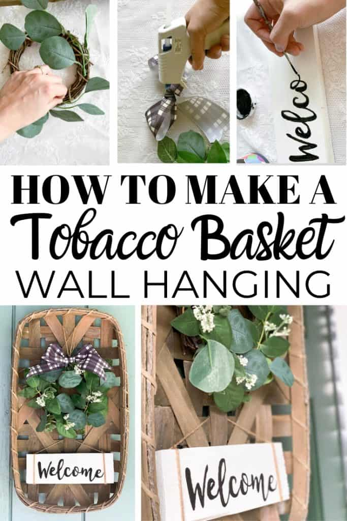Diy Farmhouse Tobacco Basket Wall Hanging Joyful Derivatives