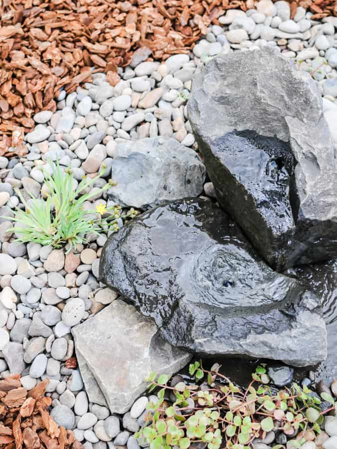 DIY Rock Water Fountain