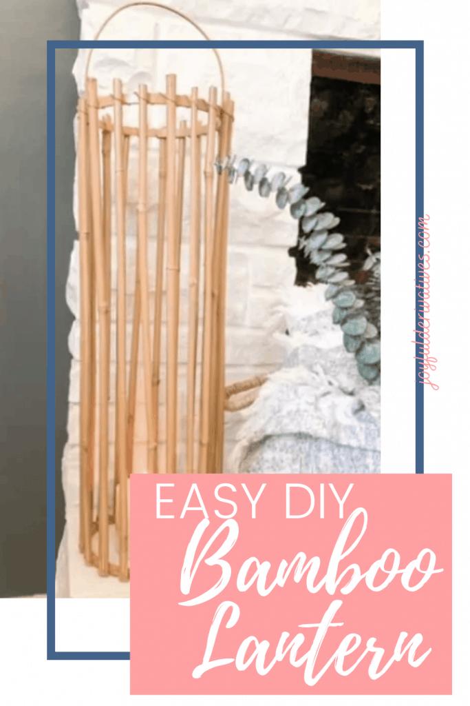 Easy Diy Lantern Made Out Of Bamboo Joyful Derivatives