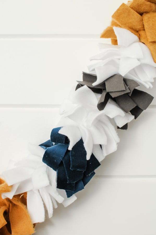DIY No-Sew Fabric Garland