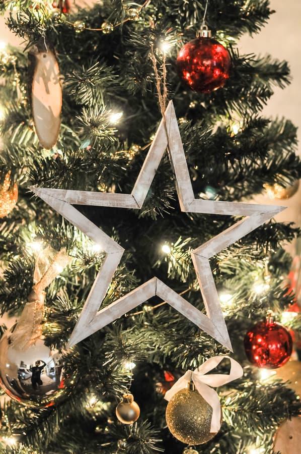 DIY Wood Star Ornament